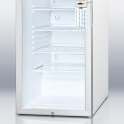 """Summit - MEDDTADA Series SCR450LBIMEDDTADA 20"""" 4.1 cu. ft. Refrigerator With Glass Door - SUMMIT39s MEDDTADA series all-refrigerators include advanced features for temperature precision in medical scientific pharmaceutical and laboratory institutions complying with ADA guidelines"""