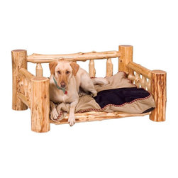 Fireside Lodge Furniture - Cedar Dog Bed w Standard Mattress (Traditiona - Finish: TraditionalCedar Collection. Includes standard mattress. Northern White Cedar logs are hand peeled to accentuate their natural character and beauty. Clear coat catalyzed lacquer finish for extra durability. 2-Year limited warranty. 30 in. L x 42 in. W x 20 in. H (60 lbs.)