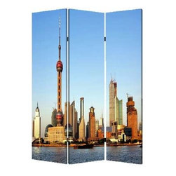 China Screen - Travel to China without leaving home, while carving out some privacy in your space. This three-panel, double-sided screen is ideal for sectioning off your open area, and it's made of lightweight canvas to reposition with ease.