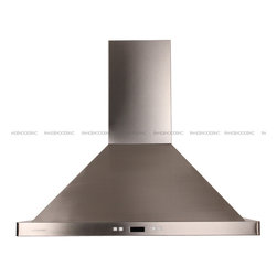 "Cavaliere - Cavaliere 198B2 30"" Wall Mounted Range Hood - Mounting version. Wall Mounted   600 CFM centrifugal blower   Three-speed electronic, touch sensitive control panel with LCD display   Delayed power auto shut off (programmable 1-15 minutes)   30 hours cleaning reminder   Two dimmable 35W halogen lights (GU-10 type light bulbs)   Aluminum 6 layers micro-cell washable grease filters (dishwasher-friendly)   Heavy duty 22 gauge stainless steel (brushed finish)   Telescopic decorative chimney of variable dimension   6"" round duct vent exhaust and back draft damper   Full stainless steel construction   Venting Mode: Duct (optional re-circulating kit available for ductless)   One-year limited factory warranty"