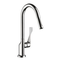 Hansgrohe 39835801 Kitchen Faucet With 2-Spray Pullout in Steel -