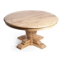 "Go Home Ltd - Vineyard Dining Table - This solid wood table features to 2 12"" deep expansion leaves which expands your table to 84"""