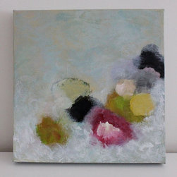 Abstract Painting by Swalla Studio - This little jewel of a painting adds a bit of subtle color to the room.