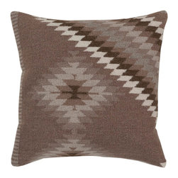 "Surya LD038-1818P 100% Linen w/ Cotton Detail 18"" x 18"" Decorative Pillow - Add character to any room with this pillow accented with dark taupe, oatmeal, and army green. This pillow has a polyester fill and a zipper closure. Made in India with one hundred percent Linen and cotton detail, this pillow is durable and priced right. Filler: Poly Fiber. Shape: Square"