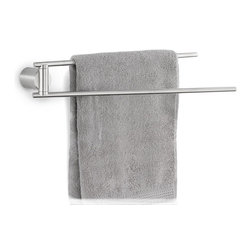 Blomus - Duo Towel Rail - Matte - At the dawn of a civilized day, shouldn't dry towels swivel to meet you as you emerge from the shower? Shouldn't the wet one retreat to the back allowing a fresh one to come to the fore? This isn't a pipe dream of the order-obsessed. It's called a Towel Rail and it's right here, now.
