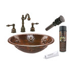 Premier Copper Products - Oval Star Self Rimming Sink w/ ORB Faucet - PACKAGE INCLUDES: