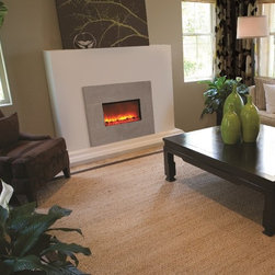 """Amantii Artisan Series Electric Wall Fireplace 38"""" - Specifically designed to create an eye-level point of intrigue in the well-appointed modern space, the Amantii Artisan Series Electric Wall Fireplace 38"""" is unforgettable."""