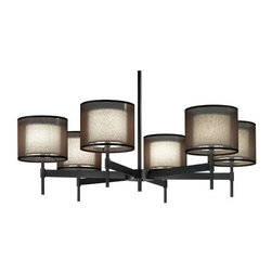 Robert Abbey - Robert Abbey 6-Light Chandelier Z2188 - Deep Patina Bronze Finish over Metal