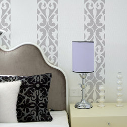 Florentine Grille Border Stencil - Florentine Grille Border stencil. These hand painted European stripes could also be stenciled as a border on walls, ceilings and floors. This could be painted in pastels for a Cottage feeling, or in black and white for a Contemporary, Modern look.