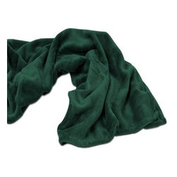 """Living Healthy Products - Velura Throw 60"""" x 50"""" - Evergreen - There's nothing more satisfying than giving the perfect gift and Kanata's Velura throw will be warmly received by everyone. Rich fashion and corporate colors work with any logo and a wide selection of packaging options allow for a unique presentation."""