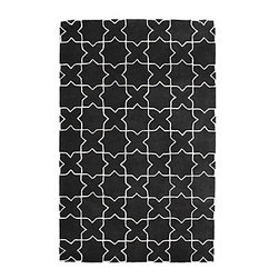 Moroccan Rug, Charcoal - There's something I love about an area rug with a bold print. Paired together with a sleek black and white palette, this Z Gallerie rug is a must have.