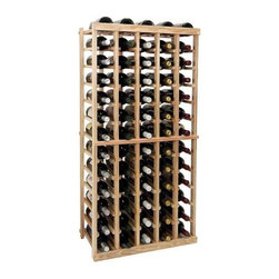 Wine Cellar Innovations - 4 ft. 5-Column Individual Wine Rack (All-Heart Redwood - Midnight Black Stain) - Choose Wood Type and Stain: All-Heart Redwood - Midnight Black StainBottle capacity: 65. Five column wine rack. Versatile wine racking. Custom and organized look. Beveled and rounded edges. Ensures wine labels will not tear when the bottles are removed. Can accommodate just about any ceiling height. Optional base platform: 18.7 in. W x 13.38 in. D x 3.81 in. H (5 lbs.). Wine rack: 18.7 in. W x 13.5 in. D x 47.19 in. H (6 lbs.). 23.19 in. W x 13.5 in. D x 47.19 in. H (8 lbs.). Vintner collection. Made in USA. Warranty. Assembly Instructions. Rack should be attached to a wall to prevent wobble
