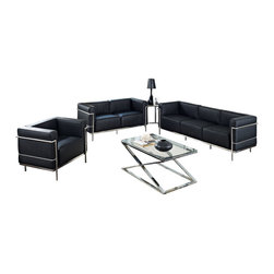 Charles Grande 3-Piece Sofa Set - Urban life has always a quandary for designers. While the torrent of external stimuli surrounds, the designer is vested with the task of introducing calm to the scene. From out of the surging wave of progress, the most talented can fashion a force field of tranquility.