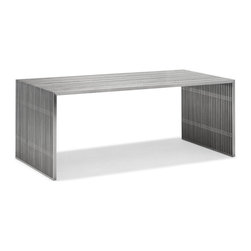 Zuo Modern - Zuo Novel Dining Table in Stainless Steel - Dining Table in Stainless Steel belongs to Novel Collection by Zuo Modern Like support beams in a high rise, the Novel series is strong and sturdy. Made from 100% stainless steel. Dining Table (1)