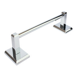 """Rusticware - Utica 24"""" Towel Bar, Chrome - The Utica 24"""" Towel Bar in Chrome from Rusticware features a squared backplate.  The modern styling is sure to accentuate your bathroom's decor."""