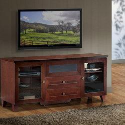 "FURNITECH - FURNITECH - MODEL FT61SC - 61"" Shaker Style TV Media Console for Flat Screen Audio Video Installations."