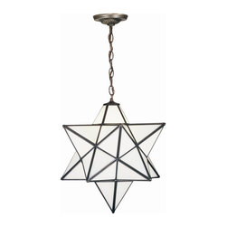 Meyda Tiffany - Meyda Tiffany Outdoor Lighting Unique Pendant Light Fixture in Mahogany Bronze - Shown in picture: Moravian Star White Pendant; Grace Your Home With This Timeless Ceiling Fixture - Hand Crafted Of Cloud White Art Glass. Dating Back To Moravia - Hunderds Of Years Ago - The Star Was Used To Protect Your Home And Bring Good Luck To Your Family. The Meyda Tiffany Moravian Star Pendant Is Suspended From Chain And Canopy In A Mahogany Bronze Hand Applied Finish.; Smallest height shown - expandable from 20-54.5.