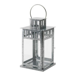 IKEA of Sweden - Borrby Lantern for Block Candle, Galvanized - I really like the slightly rustic feel of this lantern. It would be so pretty paired with some other natural elements and glamorous accessories.