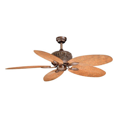 """Vaxcel - Vaxcel FN52307WP Aspen 52"""" Indoor/Outdoor Ceiling Fan - Rustic lodge style with weathered, pine details for warm livability"""