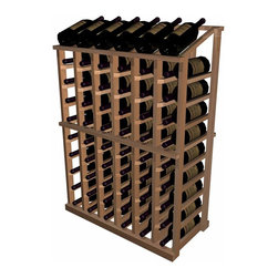 Designer Series Wine Rack - Half Height Individual with Display - The Individual Half Height with Display wooden wine rack is a very popular size. It is the wine rack most popularly requested to fit underneath an archway, yet this rack has a display row on top for those wishing to forego a table top option, and wanting to display their more valuable wines in an attractive manner. Used alone or in a wine rack kit cellar, the Individual Half Height with Display wooden wine rack is 6 columns wide x 10 rows high and stores 66 bottles including the 6 displayed on top. Product requires assembly.