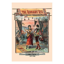 """Buyenlarge.com, Inc. - The Romany Rye Gypsy Intermezzo- Fine Art Giclee Print 24"""" x 36"""" - Edward Taylor Paull (1858 - 1924) was a prolific publisher of sheet music marches. His songs gained acclaim more from the cover art of the sheet music than often from the lyrics and tune."""
