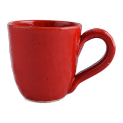 Vita Casalinga - Classic Terracotta Mug - If you have a little red dress you love you may want to add a little red mug to your life. Made of Italian clay, this sturdy  terra-cotta mug will fast become your go to vessel for hot beverages!