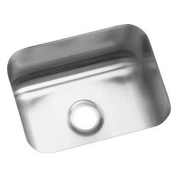 Elkay - Elkay Gourmet Lustertone Undermount Bar Sink, Stainless Steel (ELU129) - Elkay ELU129 Gourmet Lustertone Undermount Bar Sink, Stainless Steel