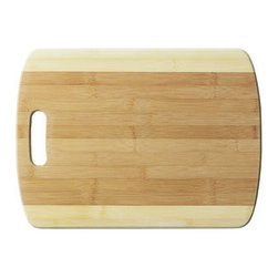 Bamboo Studio - Bamboo Studio XL Two Tone Cutting Board - Two toned for twice the visual appeal. This bamboo cutting board will look gorgeous on your counter and provides the perfect durable surface on which to indulge your inner sous-chef. Bamboo is also a sustainable material, so you can rest easy knowing you made an attractive ecofriendly choice for your kitchen.