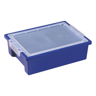 Ecr4kids - Ecr4Kids Rectangular Small Storage Organizer Plastic Bin With Lid Blue 20 Pack - Standard storage bin, measuring 4.5 deep.Standard storage bin, measuring 4.5 deep, ideal for use with trolley and classroom storage units. Strong polypropylene construction.NoteColors may vary and are subject to change without notice. Accessories not included unless noted. Adult Supervision Recommended.