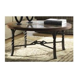 Riverside Furniture - Medley Round Coffee Table in Camden Finish - Meet Medley, a collection with a unique personality that is full of possibilities.