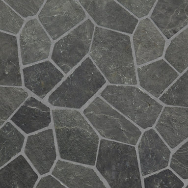 Relastone Systems - Realstone Systems Charcoal Algoma Mat - Algoma Flagstone mats feature an irregular flagstone pattern made from slate or quartz that is adhered to a rubber mesh mat.