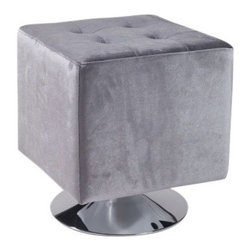 Armen Living - Armen Living Pica Square Ottoman - Unmistakably posh button-tufting detail enhances the distinguished silhouette of this updated classic.