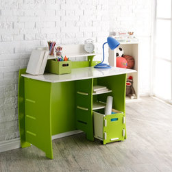 Legare - Legare 43 in. Desk with Shelf and File Cart - Green and White - MPGM-209. - Shop for Childrens Desks from Hayneedle.com! If you're like us just looking at the Legare 43 in. Desk with Shelf and File Cart - Green and White makes you want to try and put it together. This fun desk is perfect as a drawing table for your little one or when you send that same little one off to college. The body is constructed of a durable medium-density fiberboard (MDF) with a smooth matte finish in green and white. The assembly as you may have guessed is an easy affair where tools are not invited. More than just a sturdy place to write this desk sports a PDA shelf two lower shelves and a rolling file cart that tucks neatly in at the bottom. The whole piece can be flat-packed for easy storage or transport and the back piece is double-sided so you can construct it in a left-handed or right-handed configuration. If you like the look and color you needn't stop here when you could add the matching Legare 54 in. Kids Bookcase - Green & White. About Legare FurnitureBased in Fort Worth Texas Legare Furniture is a design and manufacturing firm that produces contemporary unique and easy-to-assemble furniture for the home and small office. Founded in 1999 the company's designs are an evolution of Legare's original signature modular design continually improved with innovative materials and finishes to enhance the chic style and convenient functionality that marks Legare's furniture as distinct.