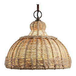 Jamie Young Lighting Pendant, Udaipur Jute - This fixture would be fun in multiples under a covered patio.