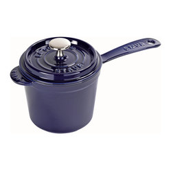 Staub Saucepan With Lid, 3 Qt., Dark Blue