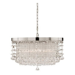 Uttermost - Uttermost 21138 Crystal Hanging Shade Pendant from the Fascination Collection - Uttermost 21138 Fascination Fascination 3 Lt ChandelierThe classic appeal of crystal is updated for today's sophisticated tastes. Chrome plated rim adorned by various styles of crystal accents.  Features: