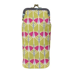 Amy Butler for Kalencom - Amy Butler Fancy Eye Glass Case, Victoria Trees Lemon - Our Amy Butler Fancy Eyeglass Case is high on romantic style, but designed for today's spendy glasses. The metal clasp frame with printed organic cotton fabric and lined with a coordinating contrast print. Sized to fit most stylesof singlasses and reading glasses.