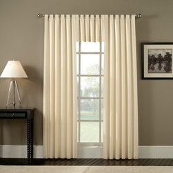 Ellis Crosby Tab Top Curtain Panel Pair - Accent your windows with the elegant appeal of the Ellis Crosby Tab Top Curtain Panel Pair. This set includes two panels and comes in your choice of size and color to best match your décor. Made of poly with an acrylic backing, these tab-top panels shade and diffuse the light while adding style to any room.
