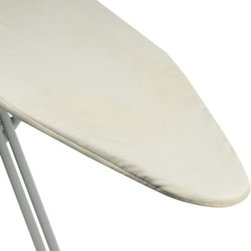 """Home Prod. Int'l North America Inc. - Ultimate Quality Ironing Board Cover and Reversible Pad in Natural - Ironing board cover fits all standard ironing boards measuring 15"""" W x 54"""" L. The 1/2"""" thick pad is reversible, adding twice the life to the pad."""