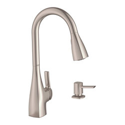 Kiran Faucet with Spot Resist® Stainless Finish - The Kiran faucet's subtle crisp edges provide a touch of modern design while the Spot Resist® finish resists fingerprints and water spots.