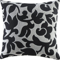 Coaster - Accent Pillow, Black/White Floral - Set of 2 - Add soft floral patterns or natural leaf textures to your living room to bring a warm and inviting atmosphere to your home.