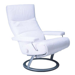 Lafer - Lafer Jessye Reclining Chair, Cobalt - The Jessye Reclining chair is a good example of a leather reclining chair that is versatile in its uses and fascinating in its looks. Bring home the Jessye multipurpose lounge chair to sit or sleep in heightened comfort. Use the knob for backrest adjustments. The backrest and footrest has separate controls.