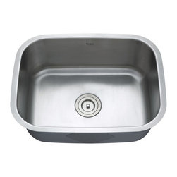"""Kraus - Kraus 23"""" Undermount Single Bowl Stainless Steel Sink Combo Set - Add an elegant touch to your kitchen with unique Kraus kitchen combo"""