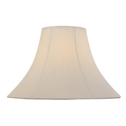 Lite Source - Windowpane Textured Bell Shade - 7in.Tx18in.Bx12.50in.Sl - Windowpane Textured Bell Shade - 7 in. Tx18 in. Bx12.50 in. Sl