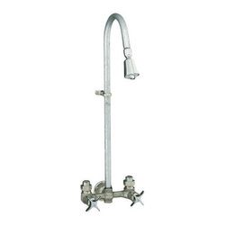 KOHLER - KOHLER Industrial Exposed Shower with Reversible Yoke and Galvanized Riser - KOHLER K-7258-RP Industrial Exposed Shower with Reversible Yoke and Galvanized Riser in Rough Plate