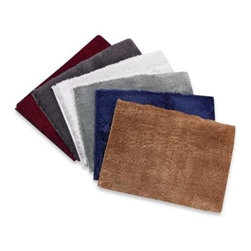Kenneth Cole Reaction Home - Kenneth Cole 17-Inch x 24-Inch Bath Rug Collection - This extra plush, luxury shag bath rug is made with super fine yarn for a soft hand. In a rich color that can be matched and accessorised with Kenneth Cole towels.