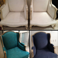 Eclectic Armchairs Before and after