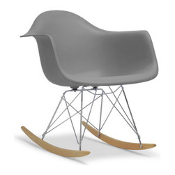 Baxton Studio - Baxton Studio Dario Grey Plastic Mid-Century Modern Shell Chair - This versatile, contemporary chair is a barebones take on the shape of an armchair. The seat of our Dario Mid-Century Modern Chair is made from strong, durable grey polypropylene plastic with a matte finish and is supported by an equally strong steel base, which is covered with a layer of high-shine chrome. Four black feet are included to protect hardwood flooring. Very up-to-date, your inner sense of style will revel in the trendiness of this designer dining chair. The Dario Chair is made in China, requires assembly, and should be maintained by wiping clean with a damp cloth.