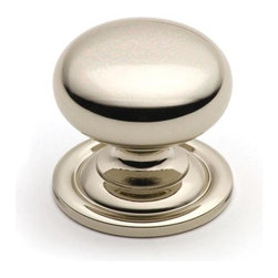 Cliffside Industries 158-PN Cabinet Knob - Artisan Series - Polished Nickel Fini - This polished nickel finish cabinet knob with smooth round knob and large base is part of the artisan suite hardware collection from Cliffside Industries and is a perfect blend of craftsmanship in traditional and contemporary design to complement any decor.