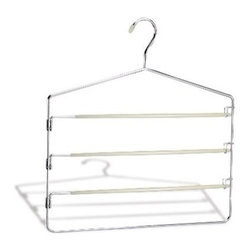 Organize It All - Slack Rack, 4 Tier - Our line of hangers offers an option for nearly every item of clothing in your closet. It's easy to outfit every closet in your house, even on a budget